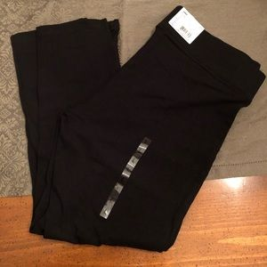 Utopia Side Slit Wide Waistband Cotton Capri NWT